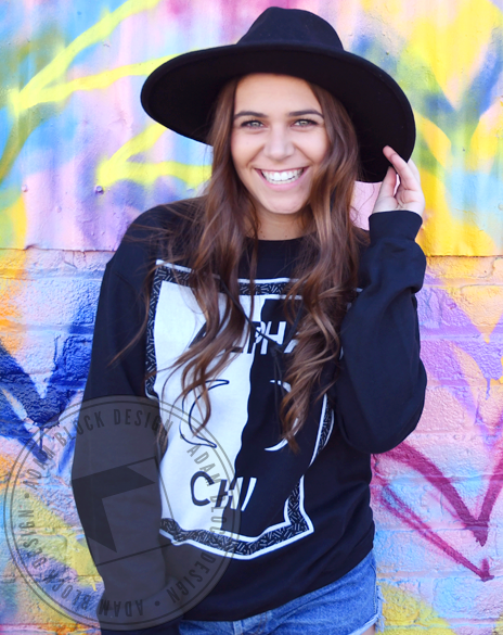 Alpha Chi Omega Moon Sweatshirt-gallery-Adam Block Design