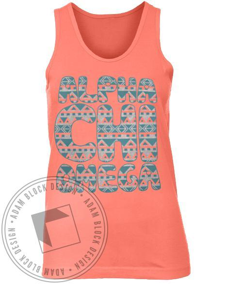 Alpha Chi Omega Nacho Night Skull Tank Top-Adam Block Design