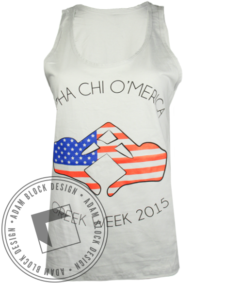 Alpha Chi Omega O'merica Greek Week Tank Top-gallery-Adam Block Design