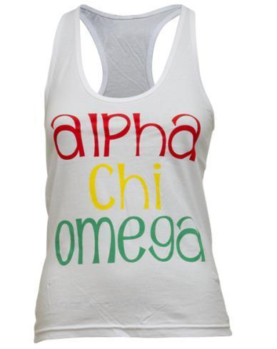 Alpha Chi Omega One Love Tank Top-Adam Block Design