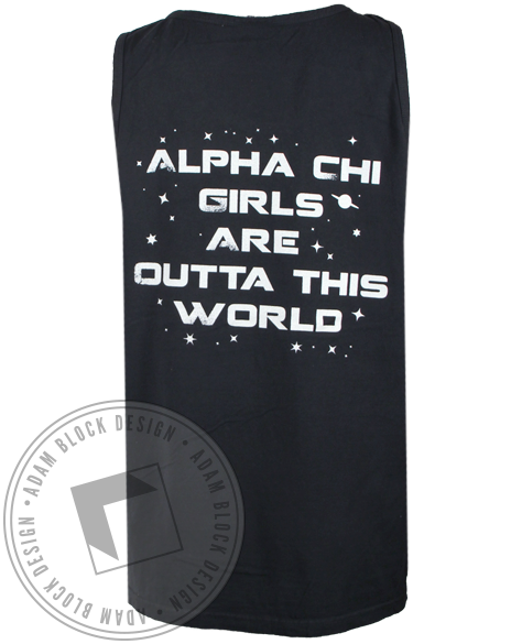Alpha Chi Omega Outta This World Tank Top-Adam Block Design