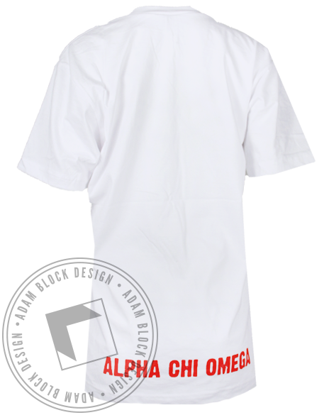 Alpha Chi Omega Pizza Love Tshirt-gallery-Adam Block Design