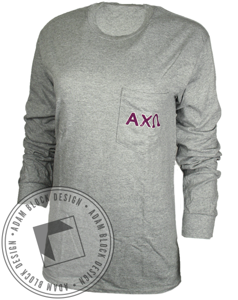 Alpha Chi Omega PJs And Pastries Long Sleeve-Adam Block Design