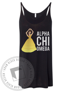 Alpha Chi Omega Princess Tank Top-Adam Block Design