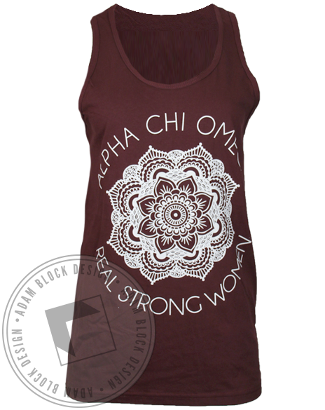 Alpha Chi Omega Real Strong Women Tank Top-gallery-Adam Block Design