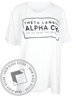 Alpha Chi Omega Seek the Heights Tee Shirt-Adam Block Design