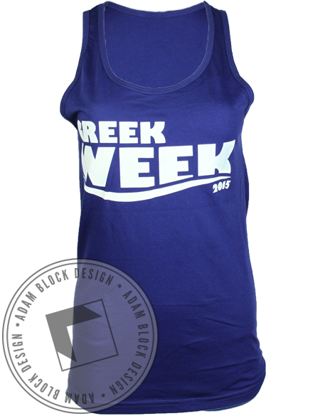 Alpha Chi Omega Shark Bait Tank Top-Adam Block Design