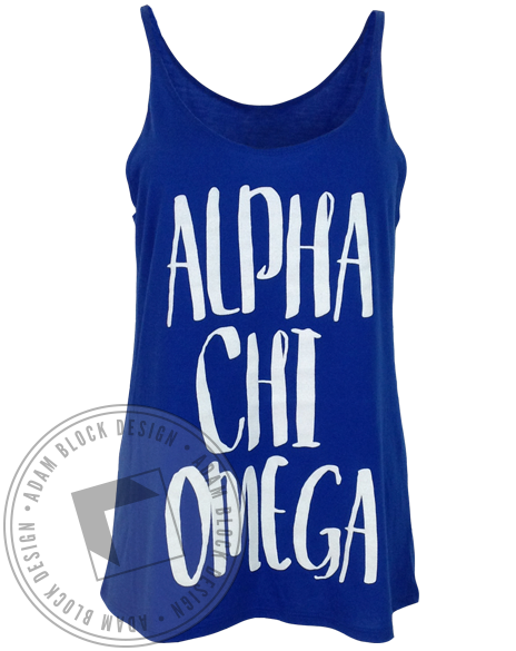 Alpha Chi Omega Simple Tank Top-Adam Block Design