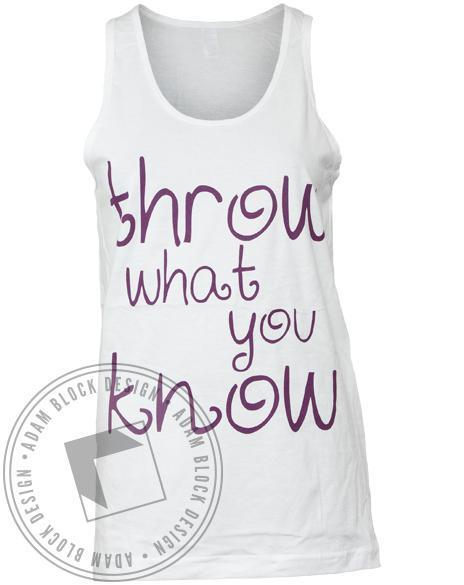 Alpha Chi Omega Throw What You Know Tank-gallery-Adam Block Design