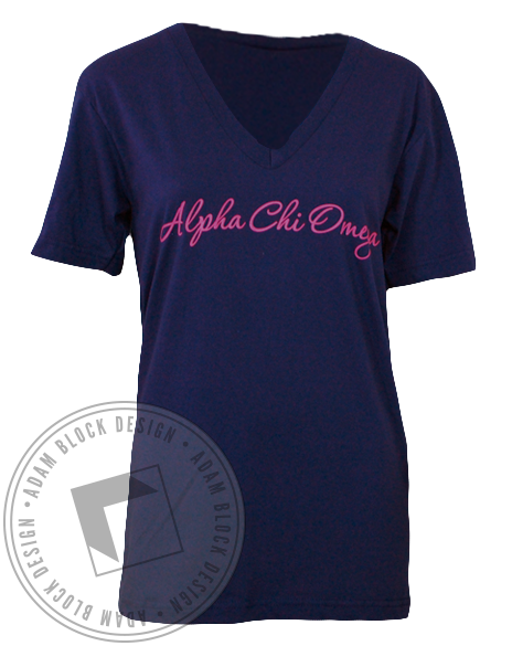 Alpha Chi Omega Together V-Neck-gallery-Adam Block Design