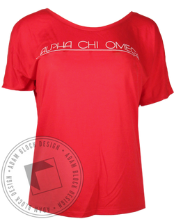 Alpha Chi Omega Walk a Mile Tshirt-Adam Block Design