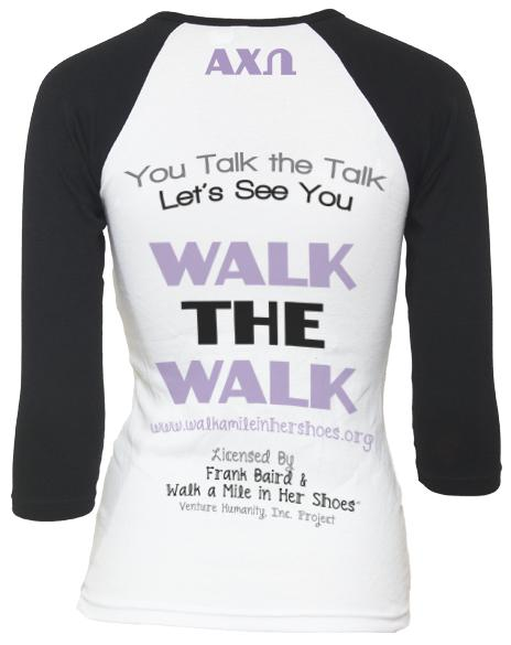 Alpha Chi Omega Walk In Her Shoes Shirt-Adam Block Design