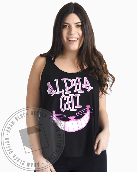 Alpha Chi Omega We're All Mad Tank-gallery-Adam Block Design