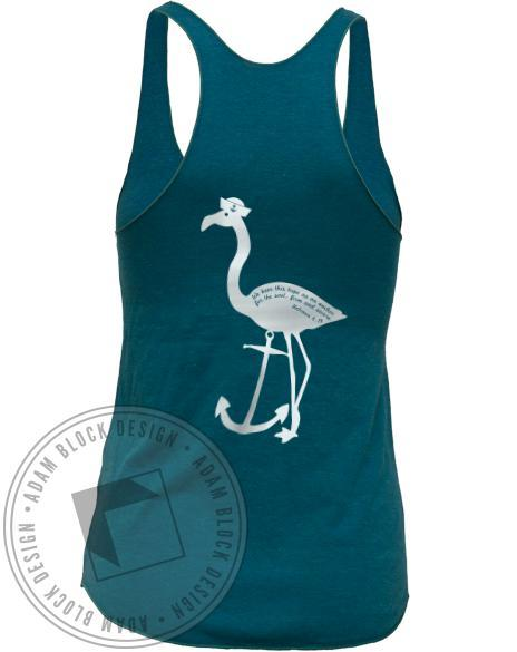 Alpha Delta Chi Fall Rush Flamingo Tank-gallery-Adam Block Design