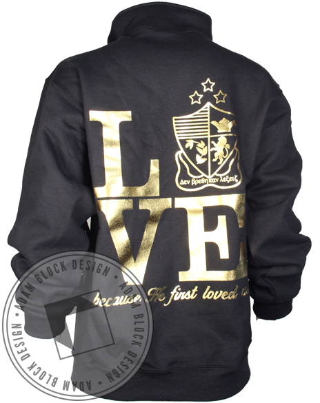 Alpha Delta Chi Mirror Pullover-Adam Block Design