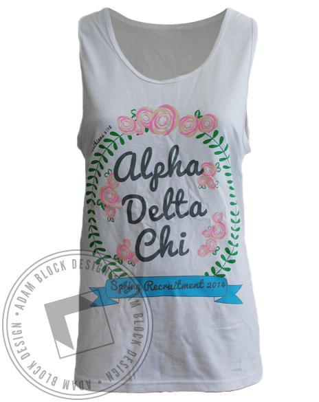Alpha Delta Chi Spring Recruitment Tee-Adam Block Design