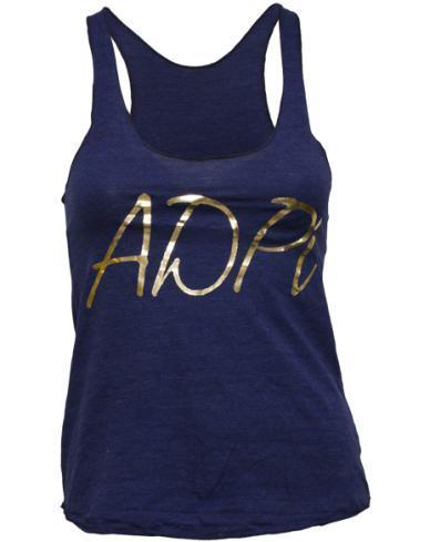 Alpha Delta Pi Best Decision Tank Top-Adam Block Design