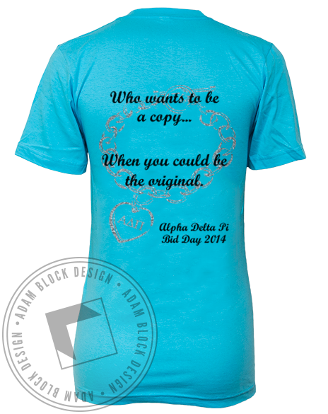 Alpha Delta Pi Bid Day Shirt-Adam Block Design