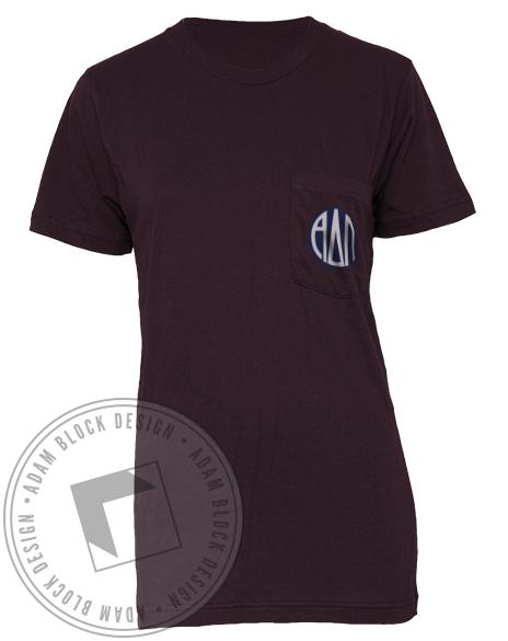 Alpha Delta Pi Boys Philanthropy Pocket Tee Shirt-Adam Block Design