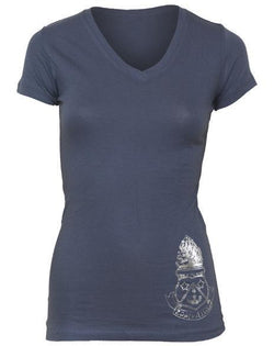 Alpha Delta Pi Crest Live For Each Other V-Neck-gallery-Adam Block Design