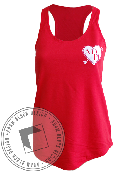 Alpha Delta Pi Crush Tank Top-Adam Block Design