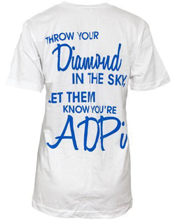Alpha Delta Pi Diamond ADPi V-neck-Adam Block Design