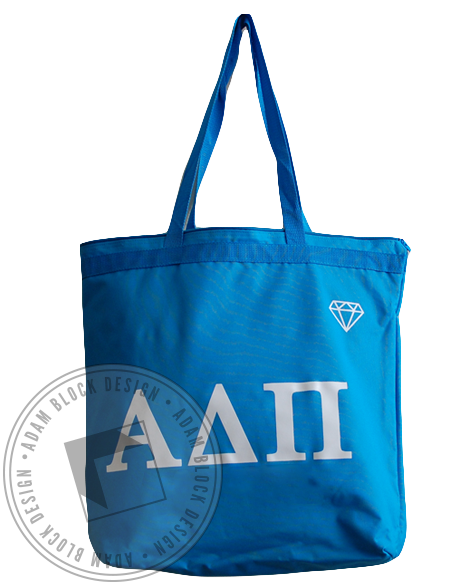 Alpha Delta Pi Diamond Blue Tote-Adam Block Design