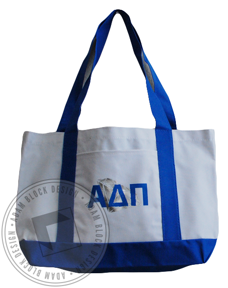 Alpha Delta Pi Diamond Letter Tote-Adam Block Design