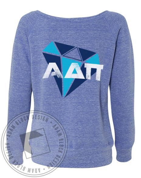 Alpha Delta Pi Diamond Sweatshirt Pullover-Adam Block Design