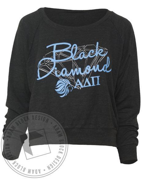 Alpha Delta Pi Diamond Raglan Pullover Sweatshirt-Adam Block Design