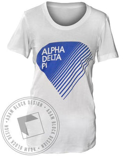 Alpha Delta Pi Diamond Tee Shirt-Adam Block Design