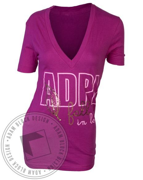 Alpha Delta Pi Fall in Love Diamond V-Neck-Adam Block Design