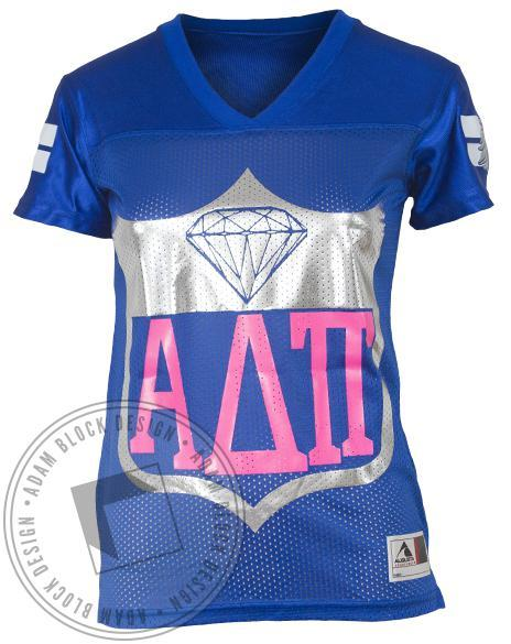 Alpha Delta Pi Football Jersey-Adam Block Design