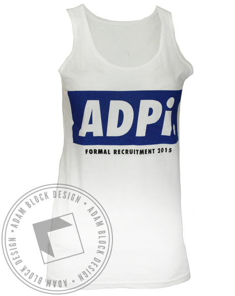 Alpha Delta Pi Formal Recruitment Tank Top-Adam Block Design