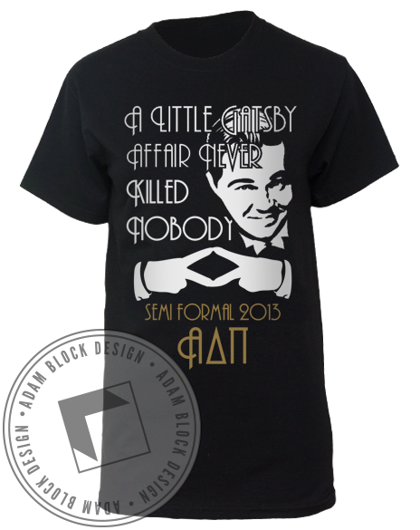 Alpha Delta Pi Gatsby Tee Shirt-Adam Block Design