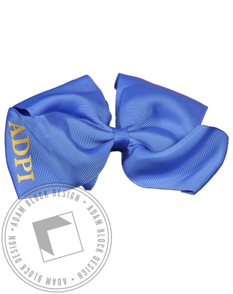 Alpha Delta Pi Hair Bow-Adam Block Design