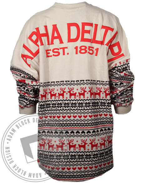 Alpha Delta Pi Holiday Spirit Jersey-Adam Block Design