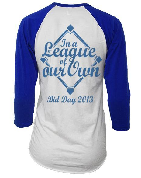 Alpha Delta Pi League of Our Own Baseball Raglan-Adam Block Design