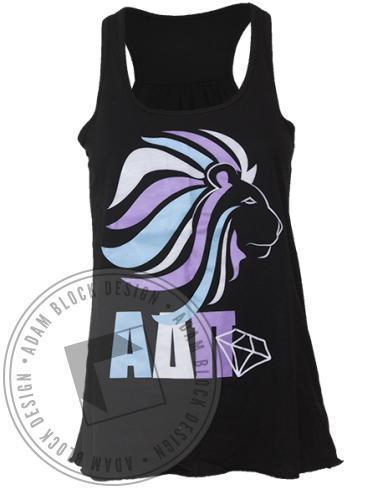 Alpha Delta Pi Lion Diamond Tank Top-Adam Block Design