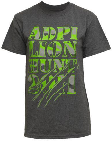 Alpha Delta Pi Lion Hunt Tee Shirt-Adam Block Design