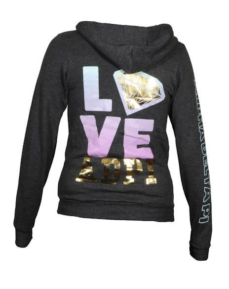 Alpha Delta Pi Love Sweatshirt Hoody-Adam Block Design