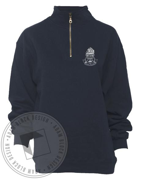 Alpha Delta Pi Miami Crest Half-Zip-Adam Block Design