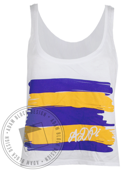Alpha Delta Pi Paint Tank Top-Adam Block Design