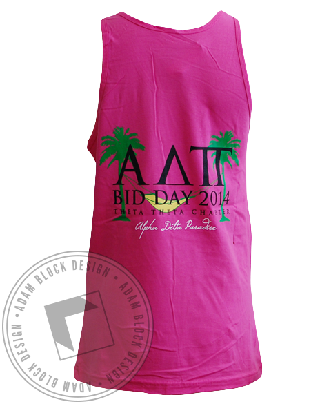Alpha Delta Pi Paradise Tank Top-Adam Block Design
