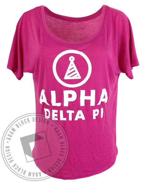 Alpha Delta Pi Party Like It's Your Bid day Tee Shirt-Adam Block Design