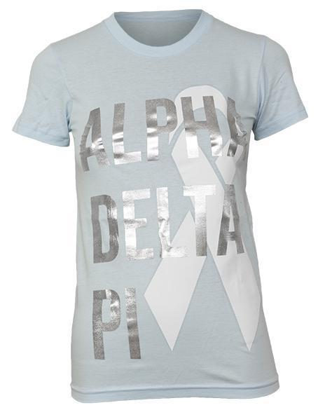 Alpha Delta Pi Relay For Life Shirt-Adam Block Design