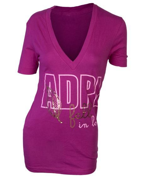 Alpha Delta Pi Rush V-Neck-Adam Block Design