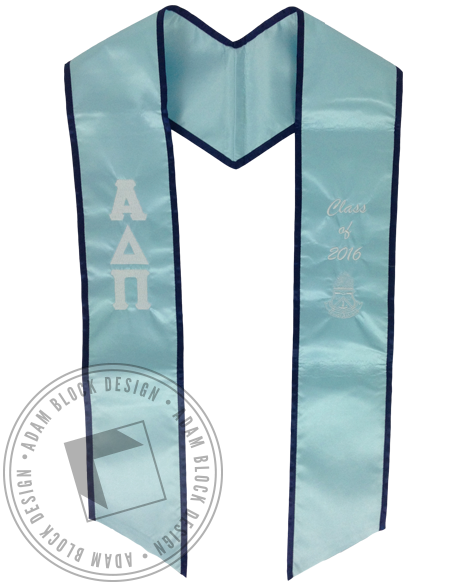 Alpha Delta Pi Senior Stole-Adam Block Design