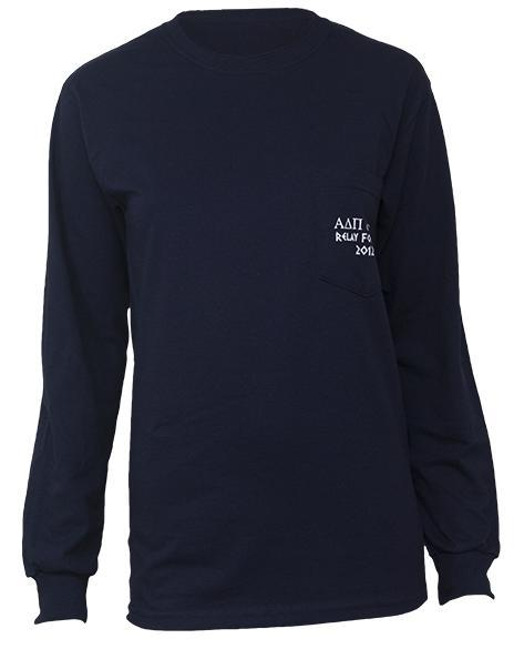 Alpha Delta Pi & Sigma Chi Relay For Life Long Sleeve-Adam Block Design
