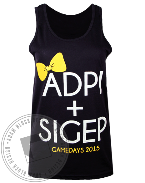 Alpha Delta Pi Sigma Phi Epsilon Gameday Tank Top-Adam Block Design